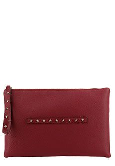 Клатч VALENTINO RED Бордовый cs882 2015