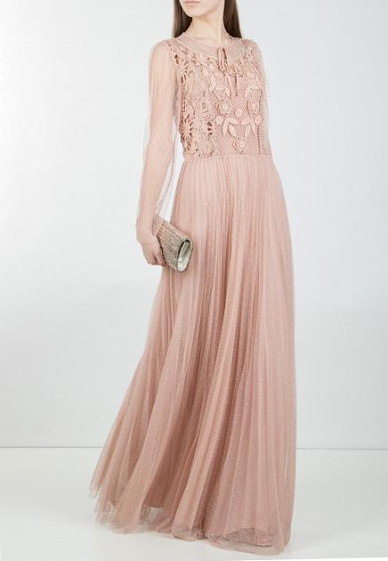Пудровое платье VALENTINO RED