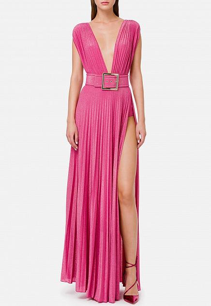 Розовое платье с эффектом металлик ELISABETTA FRANCHI