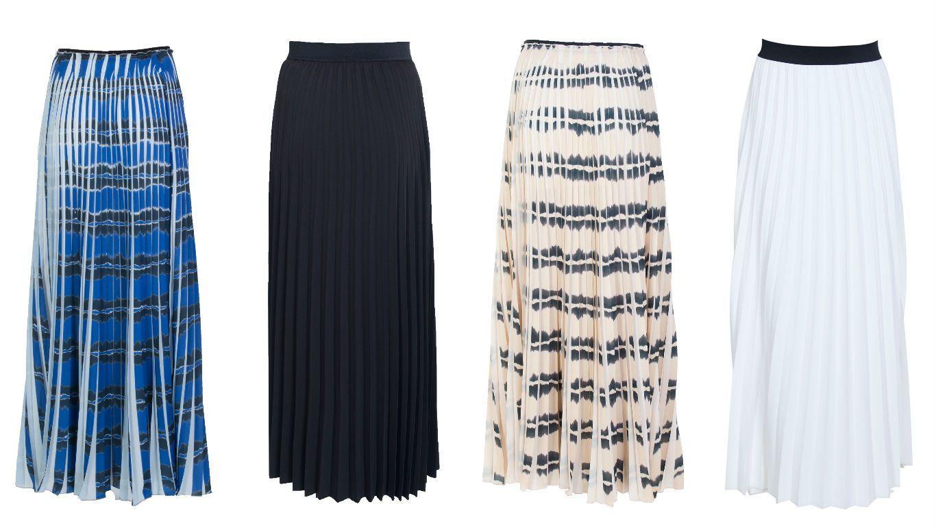 Плиссе для зимы: юбки и платья со складками